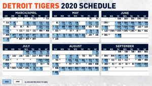 Detroit Tigers 2020 Schedule