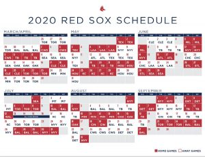 Boston Red Sox 2020 Schedule